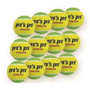 Pro's Pro Tennisbälle Junior 12er gelb-grün