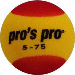 Pro's Pro Kinder Tennisball Schaumstoff S-75 gelb-rot 90mm