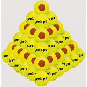 Pro's Pro Beach Tennis Ball 60er gelb mit orangen Punkt