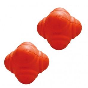 Pro's Pro Reaktionsball 7 cm, hart, orange aus Gummi