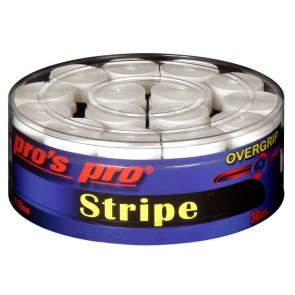 Pro's Pro Overgrips Stripe Grip 0,70mm 30er weiß
