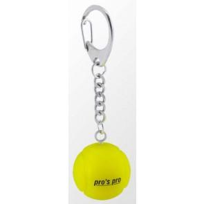 Pro's Pro Schlüsselanhänger Tennisball Silikon gelb