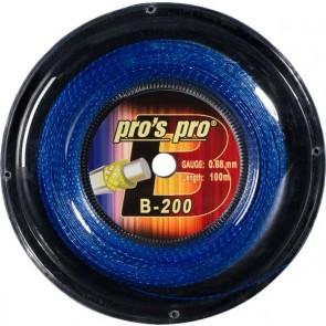 Pro's Pro B-200 100 m blau/silber Badmintonsaite 0,69 mm