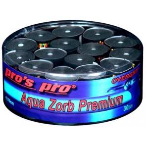 Pro's Pro Overgrips 30er Box Aqua Zorb Premium 0,70 mm schwarz trocken