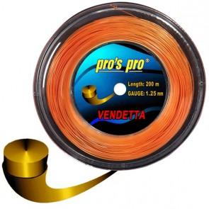 Pro's Pro 200-m-Tennissaite Vendetta 1,25 mm orange Deutsche Polyestersaite armschonend