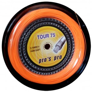 Pro's Pro Badmintonsaite Tour 75 100 m neon-orange