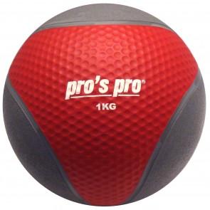 Pro's Pro Medizinball 1 kg grau/rot