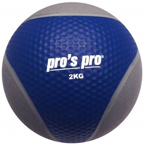 Pro's Pro Medizinball 2 kg grau/dunkelbau