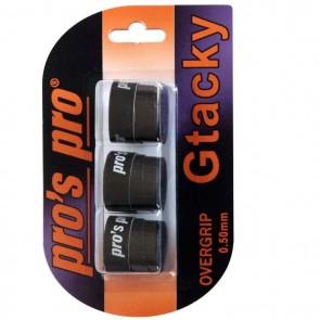 Pro's Pro Gtacky Griffband 0,5 mm Saugfaehig Vibrationsdaempfend 3er schwarz