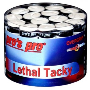Pro's Pro Overgrips 60er Lethal Tacky 0,70 mm weiss strukturiert