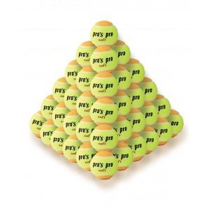 Pro's Pro Tennisbälle für Kinder Soft 60er gelb-orange