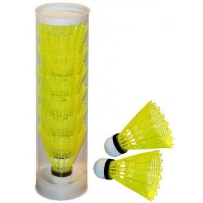 Pro's Pro Nylon Badmintonbälle 6er-Dose gelb Naturkork