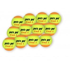 Pro's Pro Methodikbälle Stage 2 gelb/orange 12er Packung