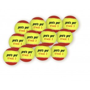 Pro's Pro Methodikbälle Stage 3 (70 mm) yellow/red 12er