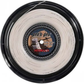 Pro's Pro Tennissaite 200 m Synthetik Hexmulti 1,30 mm weiss sechseckig