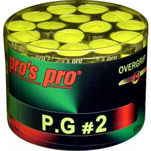 Pro's Pro P.G. 2 Griffband griffig tacky perforiert 0,7 mm 60er Box lime