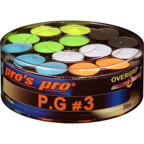 Pros Pro P.G. 3 griffband griffig tacky perforiert 0,7 mm 60er Box sortiert