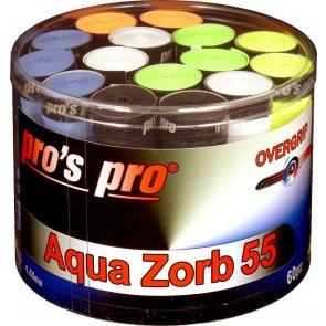 pros pro overgrips 60er aqua zorb 55 0.55mm sortiert trocken