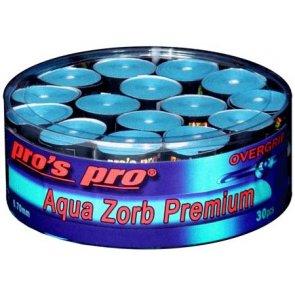 Pro's Pro Overgrips 30er Box Aqua Zorb Premium 0,70 mm blau trocken