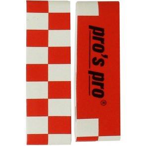 Pros Pro Single Kopfschutzband rot/weiß 2er