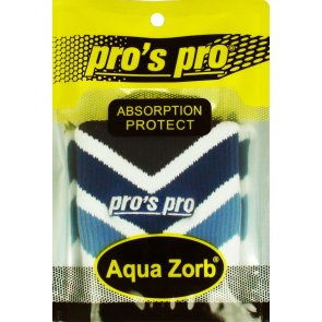 Pros Pro Aqua Zorb SCHWEISSBAND weiß/blau