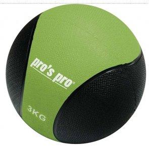 Pros Pro Medizinball 3 kg grün/schwarz