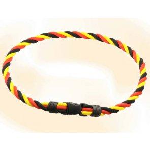 Pro's Pro Ionen Power Halskette schwarz/rot/gelb Medium