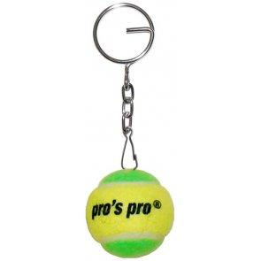 Schlüsselanhänger Tennisball gelb/grün