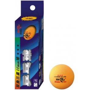 Double Fish Super 3-Star Tischtennis-Bälle 3er orange