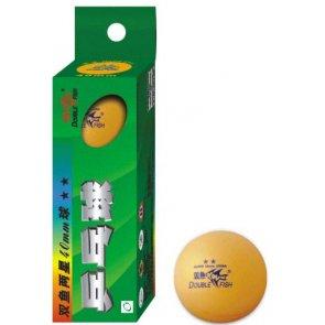Double Fish 2-Star Tischtennis-Bälle 3er orange