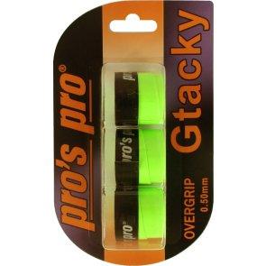 Pro's Pro Gtacky Griffband 0,5 mm Saugfaehig Vibrationsdaempfend 3er Neon-Gruen