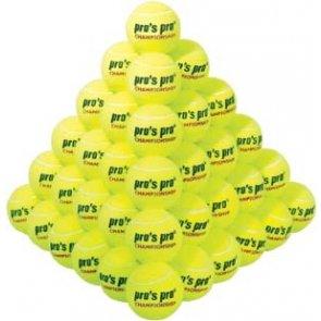 Pros Pro Tennisbälle Championship 60er gelb/grün drucklos