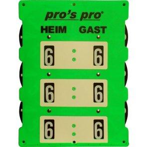 Pros Pro Spielstandanzeiger Tennis 61 x 45 cm neon-grün