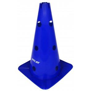 """Pros Pro Premium Kegel 15"""" mit Löchern+Vertiefung blau"""