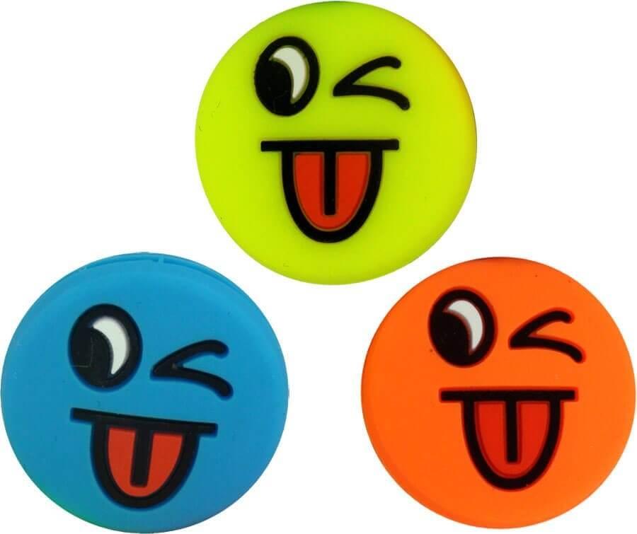 6pcs Tennisschläger Vibrationsdämpfer Stoßdämpfer Funny Face