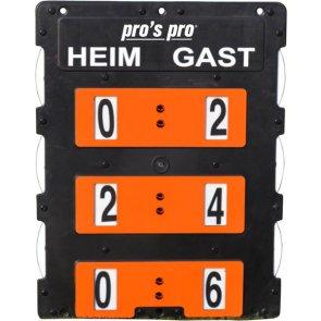 Spielstandanzeiger 60 x 46 cm schwarz-orange