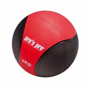 Medizinball 2 kg rot/schwarz