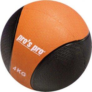 Pro's Pro Medizinball 4 kg schwarz/orange