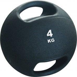 Pro's Pro Medizinball mit Griffen 4 kg schwarz