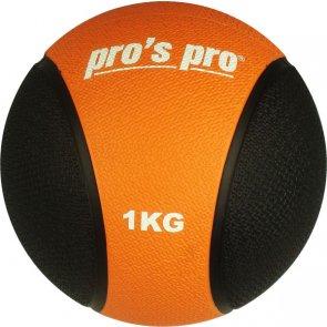 Pros Pro Medizinball 1 kg schwarz/orange