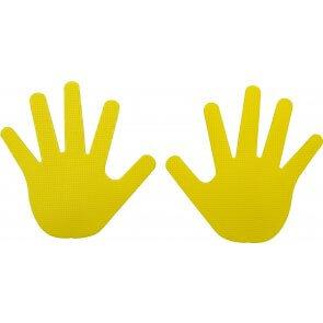 prospro Markierungshände Vinyl gelb, Paar