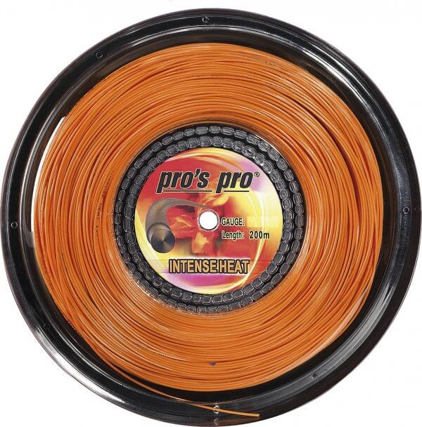 Pro's Pro Tennissaite 200 m Polyester Intense Heat 1,30 mm orange