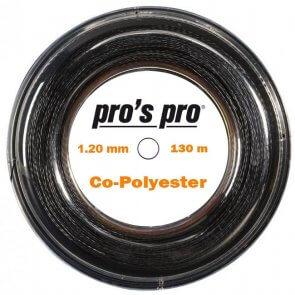 Pros Pro Co-Polyester Saite 130m 1.20mm schwarz verdreht