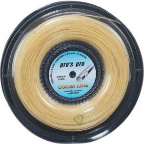 Pro's Pro Tennissaite 200 m Synthetik Color Line natur 1,40 mm
