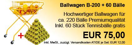 Ballwagen B-200 + 60 Tennisbälle